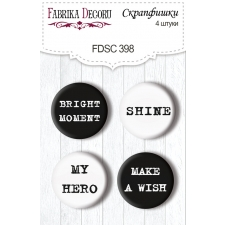 "Flair buttons. Set of 4pcs #398 ""Mystical Space"""