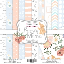 "Double-sided scrapbooking paper set ""Baby & Mama"", 8""x 8"" , Fabrika Decoru"