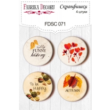 "Flair buttons. Set of 4pcs #071 ""Botany Autumn"""