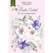 "Set of die cuts ""Tender Orchid"", 49 pcs"