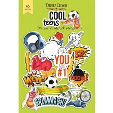 "Set of die cuts ""Cool Teens"", 65pcs"