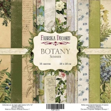 "Double-sided scrapbooking paper set ""Botany summer"", 8""x8"", Fabrika Decoru"