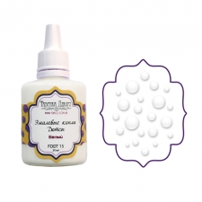 Liquid enamel dots Fabrika decoru, color White