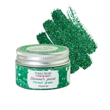 Shimmer paint. Color Forest green