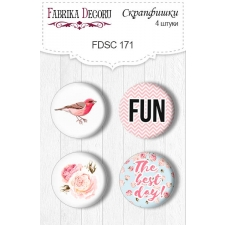 "Flair buttons. Set of 4pcs #171 ""Sensual Love"""