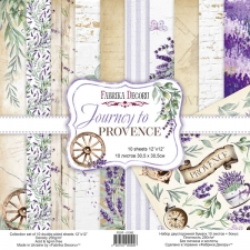 "Double-sided scrapbooking paper set ""Journey to Provence"", 12""x 12"" , Fabrika Decoru"