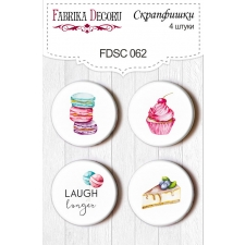 "Flair buttons. Set of 4pcs #062 ""Candy Shop"""
