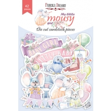"Set of die cuts ""My Little Mousy Girl"", 42 pcs"
