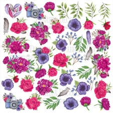 "Decorative sheet for cutting ""Mind Flowers"""