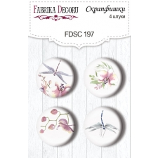 "Flair buttons. Set of 4pcs #197 ""Tender Orchid"""