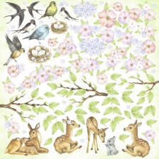 "Decorative sheet for cutting ""Smile of Spring"""