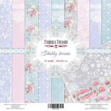 "Набор скрапбумаги ""Shabby Dreams"", 30,5см x 30,5см, Фабрика Декору"