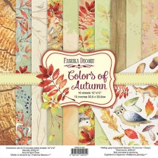 "Double-sided scrapbooking paper set ""Colors of Autumn"", 12""x 12"", Fabrika Decoru"
