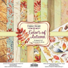 "Double-sided scrapbooking paper set ""Colors of Autumn"", 8""x 8"", Fabrika Decoru"