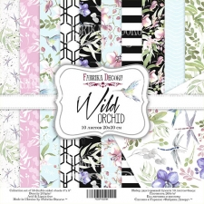 "Double-sided scrapbooking paper set  ""Wild orchid"", 8""x 8"" , Fabrika Decoru"