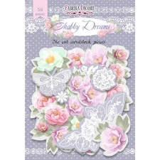 "Set of die cuts ""Shabby Dreams "", 56 pcs"