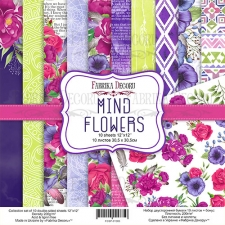 "Double-sided scrapbooking paper set ""Mind Flowers"", 12""x 12"" , Fabrika Decoru"