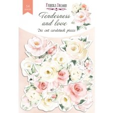 "Set of die cuts ""Tenderness and Love"", 54 pcs"