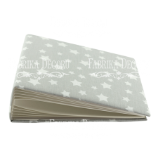 "Blank album with a soft fabric cover ""Gray stars"""