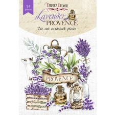 "Set of die cuts ""Lavender Provence"", 54 pcs"