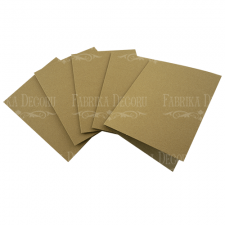 Set of 5 blanks for creating cards 12х15сm Kraft