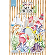 "Set of die cuts ""Sea Breeze "", 61 pcs"