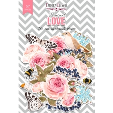 "Set of die cuts ""Sensual Love"", 57 pcs"