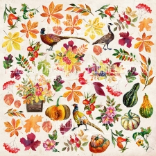 "Decorative sheet for cutting ""Botany Autumn Redesign"""