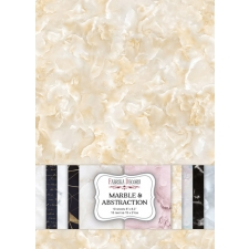 "Double-sided scrapbooking paper set ""Marble & Abstraction"", A5, Fabrika Deсoru"