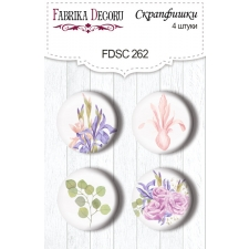 "Flair buttons. Set of 4pcs #262 ""Majestic Iris"""