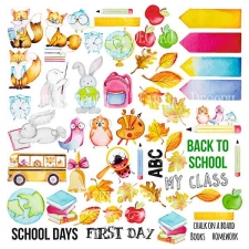 "Decorative sheet for cutting ""Cool school"""