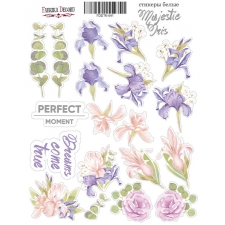 "Kit of stickers #041, ""Majestic Iris"""