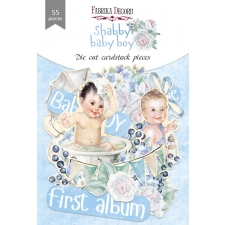"Set of die cuts ""Shabby Baby Boy"", 55 pcs"