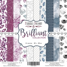 "Double-sided scrapbooking paper set ""Brilliant"", 8""x8"", Fabrika Decoru"