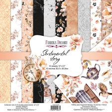 "Double-sided scrapbooking paper set ""Sentimental Story"", 12""x 12"", Fabrika Decoru"