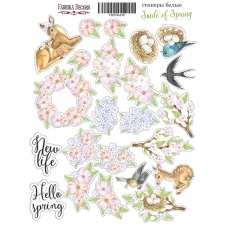 "Kit of stickers #012, ""Smile of Spring"""