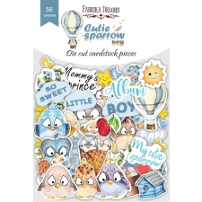 "Set of die cuts ""Cutie Sparrow Boy"", 56 pcs"