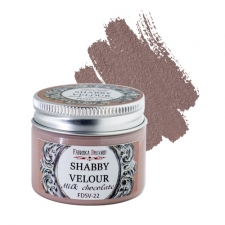 Shabby velour. Color Milk chocolate