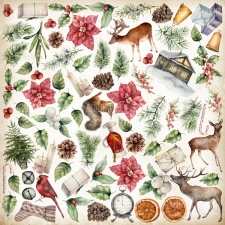 "Decorative sheet for cutting ""Winter Wonders"""