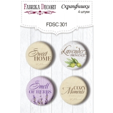 "Flair buttons. Set of 4pcs #301 ""Lavender Provence"""