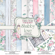 "Double-sided scrapbooking paper set ""Shabby Love"", 8""x 8"", Fabrika Decoru"