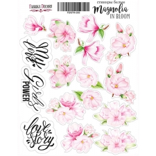 "Kit of stickers #035, ""Magnolia in bloom"""