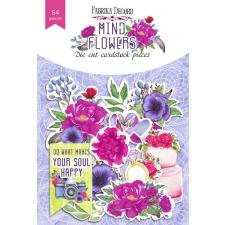 """Набор высечек, коллекция """"Mind Flowers"""", 64 шт"""