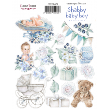 "Kit of stickers #072, ""Shabby Baby Boy"""