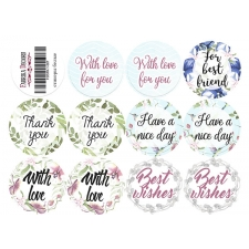 "Journal stickers #1-007, ""Wild Orchid"""