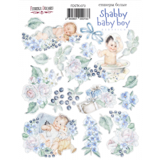 "Kit of stickers #073, ""Shabby Baby Boy 1"""