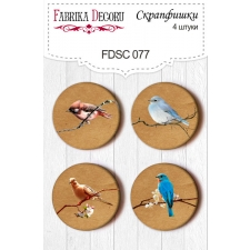 Flair buttons. Set of 4pcs #077