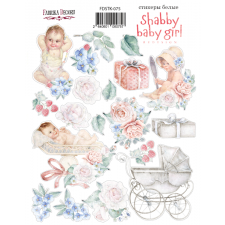 "Kit of stickers #075, ""Shabby Baby Girl 1"""