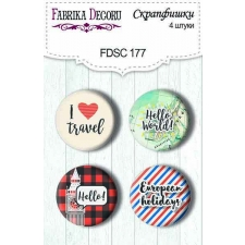 Flair buttons. Set of 4pcs #177