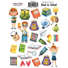 "Kit of stickers #076, ""Back to School"""